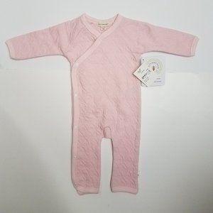 Burt'S Bees Baby Girls Pink Sleeper 0-3M Pajamas